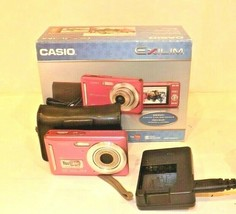 Casio Exilim EX Z9 Digital Camera IOB Pink With Case Battery - $14.01