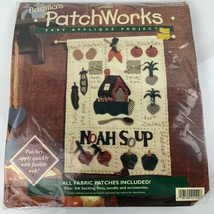 """Noah Soup Bucilla Patchworks Easy Applique 13"""" x 17"""" New In Package - $9.64"""