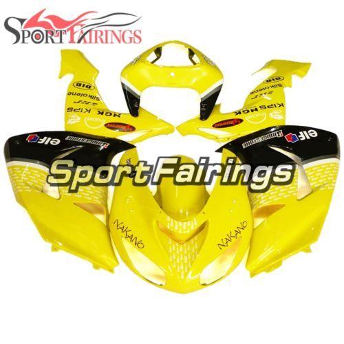 Yellow Black Fairings For Kawasaki 2006 2007 ZX10R Body Frames ZX1000D Cowlings