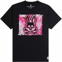 Men's Psycho Bunny Short Sleeve Tee Logo Graphic Shirt Haley Black T-Shirt image 3