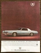 1967 Cadillac Fleetwood Eldorado Print Ad World's Finest Personal Car - $9.95