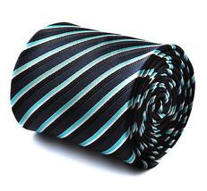 marineblau türkis & weiß gestreift Herren Stangentanz Krawatte von - $24.38