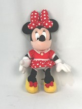 "16"" Disney Authentic Minnie Mouse Stuffed Plush Red Clothing - $19.55"