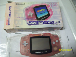 Nintendo Game Boy Advance Launch Edition Pink Handheld System COMPLETE I... - $52.67