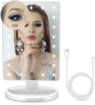Famihomii Makeup Vanity Mirror With 21 Led Lights, Lighted Makeup Mirror... - $18.80