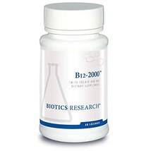 Biotics Research B12 Lozenges- Vitamin B6 & B12 2000 Lozenges with Folate - 60 L