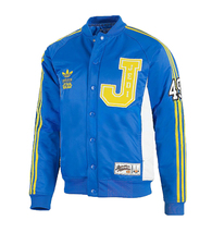 New Adidas Original StarWars Jedi Varsity Coat Hoodie Blue Jacket Sweate... - $129.99