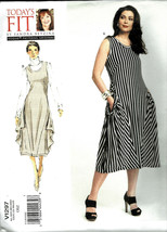 Vogue V1297 Pattern Misses Loose-Fitting Pullover Dress in All Sizes 2 S... - $11.88