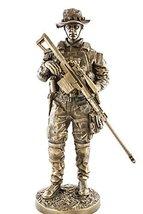 Sniper 13 Bronzed Resin Military Statue #8088 Modern Era Sniper .50 Cal Barrett  - $76.99
