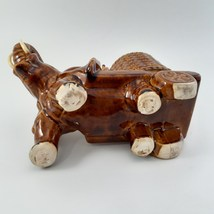 Brown Elephant with Cart of Drinks on Ice Rare image 10