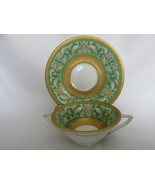 Vintage Rosenthal Bone China Double Handled Cream Soup Cup & Saucer - 1930s - $29.99