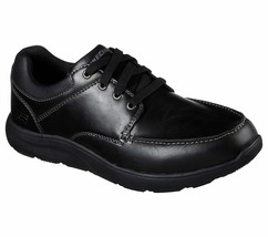 65325 Black Skechers shoes Men Memory Foam Sport Comfort Dress Casual Mo... - $39.99