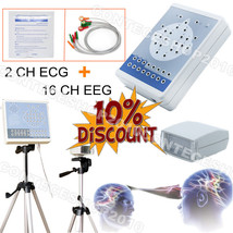 CE CONTEC Digital 16 Channel EEG& 2 CH ECG Mapping System machine,Brain ... - $1,006.05