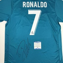 Autographed/Signed CRISTIANO RONALDO Real Madrid Blue Jersey Beckett BAS... - $449.99