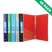 Binders, Poly 3-ring Office File School Binder 1 Inch With Pocket (case ... - $108.19