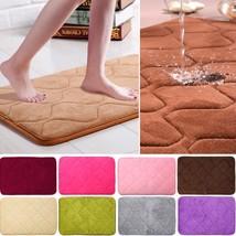 Kitchen Mat Non Slip Absorbent Memory Foam Bath Soft Floor Shower Bathro... - $11.99