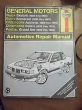 Haynes Repair Manual General Motors 1985 to 1995 Buick Pontiac Oldsmobile - $12.82