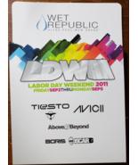 AVICII, TIESTO, LaborDay Weekend 2011 at WEt Republic MGM Las Vegas Prom... - $3.95
