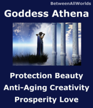 Goddess Athena Beauty Youth Love Wisdom Happiness Wealth BetweenAllWorld... - $155.34