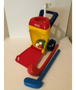 Fisher Price Kids Golf Caddy Set Grow To Pro Mini Golf Putting 2 Clubs 3... - $29.99