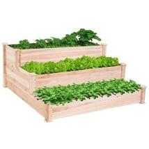 Wooden Vegetable Planter Raised Garden Bed 3 Tier Elevated Outdoor Garde... - €89,35 EUR