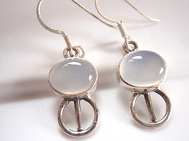 Blue Chalcedony Earrings 925 Sterling Silver Dangle New Corona Sun Jewelry - $13.85