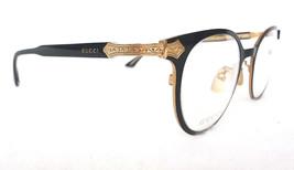 GUCCI Men's Optical Frame GG0068O TITANIUM Black/Gold 140 MADE IN JAPAN ... - $325.00