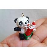 Tiniest Hallmark 1990  Keepsake Ornament Miniature Panda's Surprise Decoration  - $10.39