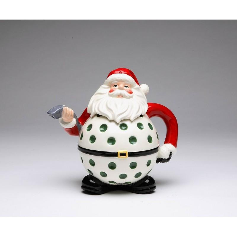 Santa golf teapot 8