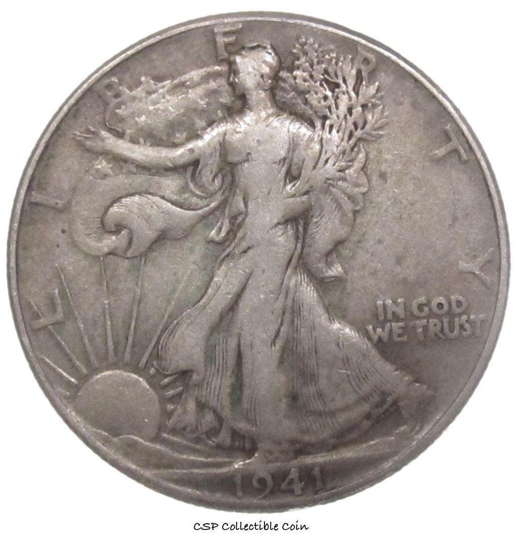 1941 Walking Liberty Half Dollar - $10.89
