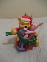"""DISNEY pooh and piglet christmas tree ornament 3"""" high - $14.74"""