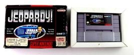 SNES Jeopardy (Super Nintendo, 1992) w/Cart and Box Tested - $6.95