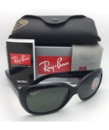 RAY-BAN Sunglasses JACKIE OHH RB 4101 601/58 Black Frames Green Polarize... - $200.43