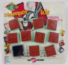 Looney Tunes Stamper Kit Rubber Stampers Tweety Taz Daffy Bugs Road Runner - $6.17