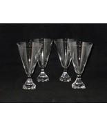 Josair Crystal ELECTRA LINDA Water Glasses Goblets ~ Set of 4 - $52.00