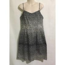 Ann Taylor Loft Dress Size 6 Sundress Navy Cream Polka Dots Sweetheart Neckline - $24.74