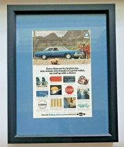 """1973 Chevrolet Impala Custom Ad Matted and Framed 15""""x 12"""" Vintage  (P) - $29.69"""