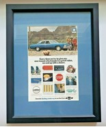 """1973 Chevrolet Impala Custom Ad Matted and Framed 15""""x 12"""" Vintage  (P) - £21.59 GBP"""