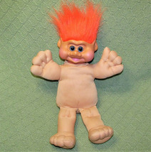 "VINTAGE TROLL BABY DOLL 15"" ITB 1991 VINYL HEAD PLUSH BODY ORANGE HAIR B... - $24.75"