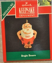Hallmark - Bright Boxers - Santa Showing Off - Miniature Ornament - $8.01