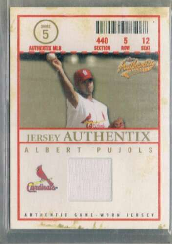 2004 Fleer Authentix Game Jersey #AP Albert Pujols NM-MT MEM