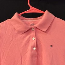 Tommy Hilfiger Pink Short Sleeve Cotton Polo Shirt Youth Girls XL NWT New  image 2