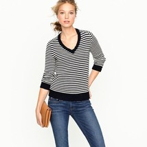 J.Crew V-Neck Sweater in Stripe Sz XL New NWT - $29.68