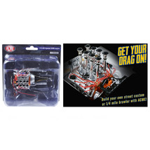 Engine and Transmission Replica Fuel Injected 426 Hemi 1/18 by Acme A180... - $30.06
