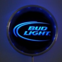 "LED neon sign  BUD LIGHT 10"" round  Pub Beer Bar  - $48.99"