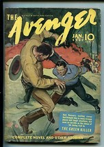 The Avenger 01/1942-STREET & SMITH-PULP-GREEN KILLER-KENNETH ROBINSON-vf Minus - $212.19