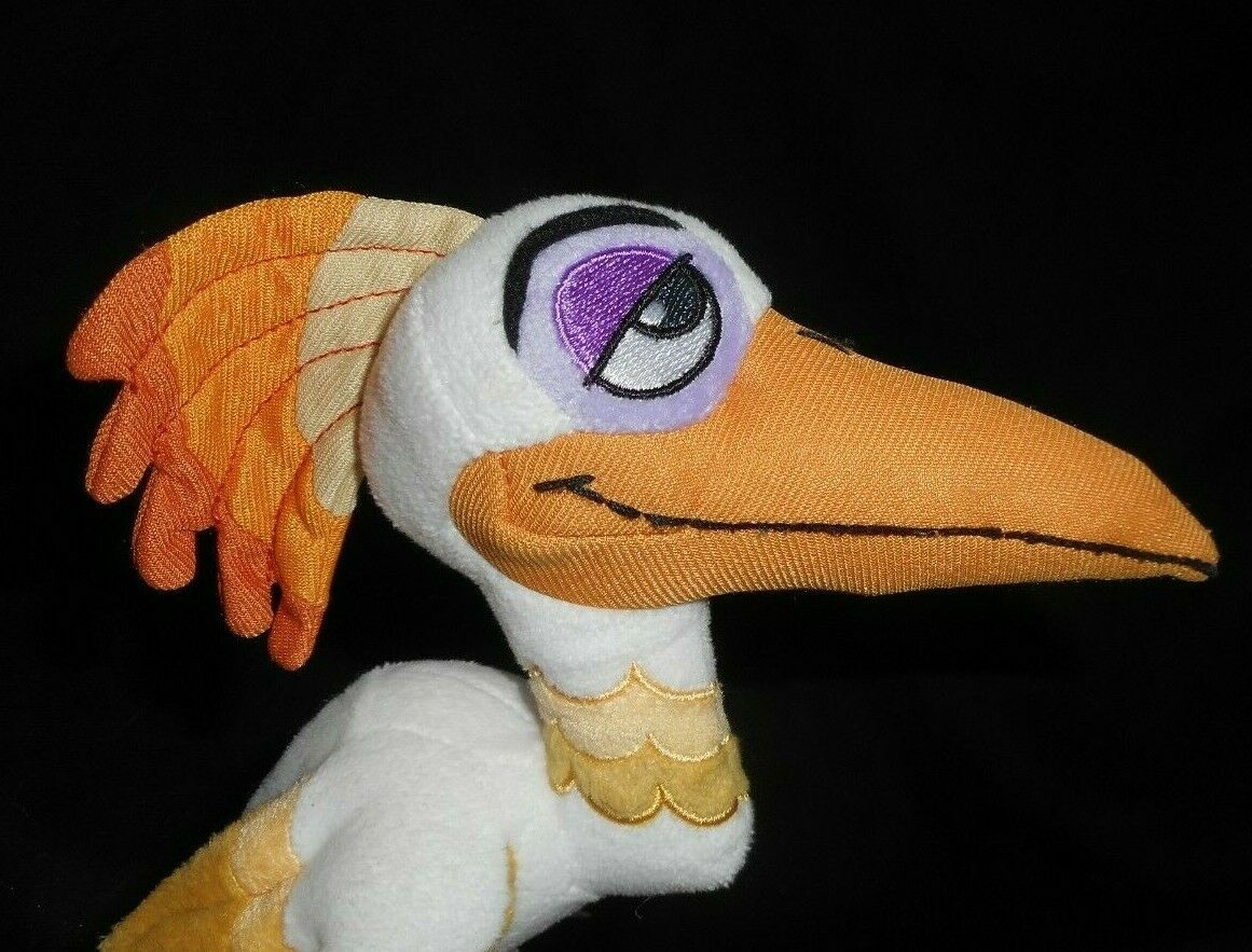 """10"""" Disney The Lion King Guardia Ono Blanco Pájaro Egret Peluche Plush Toy"""