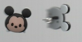 """Earrings - Mickey Mouse Face Posts - Homemade  Disney Hypoallergenic 3/4"""" x 2/3"""" - $8.81"""