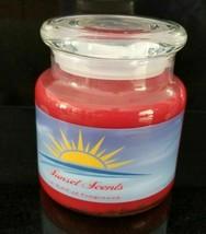 New Sunset Scents Candles 16oz Medium Jar Peppermint Bark - $18.94