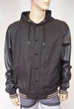 Nike Jumpman 538824 Men's Black Leather Hooded Varsity Destroyer Jacket ... - $189.99
